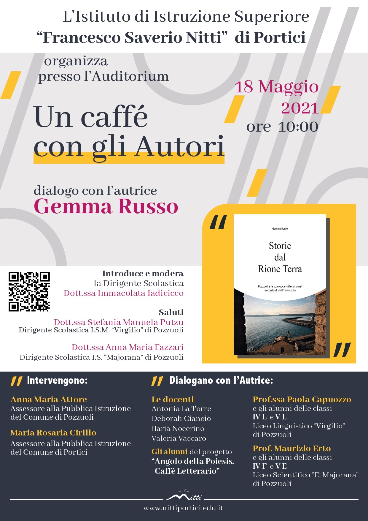 """Un caffè con gli autori: presentazione de """"Storie del Rione Terra"""""""