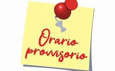 ORARIO DELLE LEZIONI DAL 20/09/2021